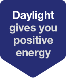 daylight gives you positive energy