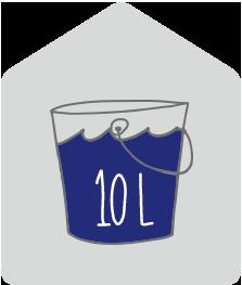 10 liter vocht per dag