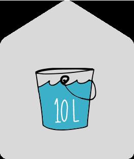 10 litres moisture per day